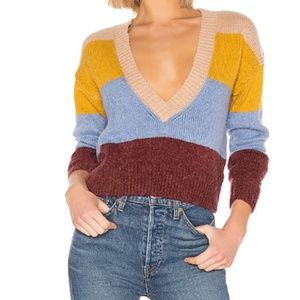 NWT For Love & Lemons Wellesley Stripe Sweater